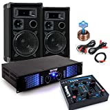 2400 Watt PA Kompakt Musik Anlage Verstärker Boxen USB MP3 Mixer DJ-Party 7