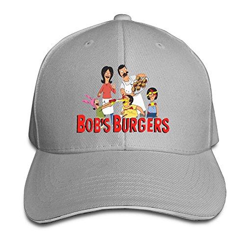 BAI XUE bobs-Burgers Baseball Cap, Herren, Asche