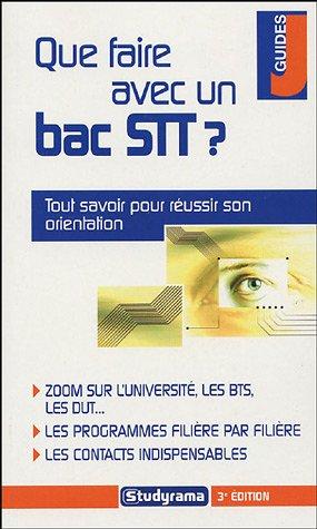 Que faire avec un bac STT ?