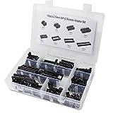 aussel 100unidades 2,54mm Pitch Dual Row adaptador de Dip Socket IC lötmittel Juego de 6, 8,14,16,18,24,28,40Pin