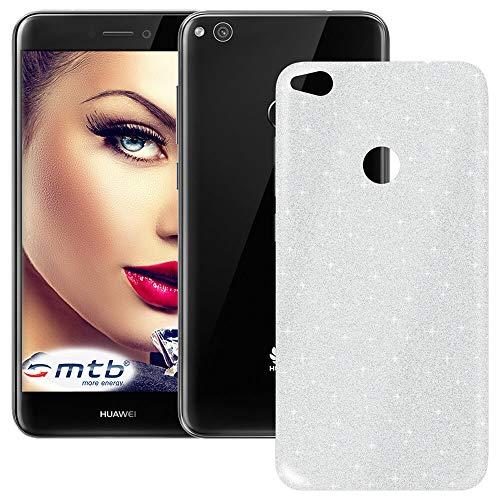mtb more energy® TPU Hülle Shine für Huawei P8 Lite 2017 | P9 Lite 2017 | Honor 8 Lite (5.2'') | Silber | Glitzer-Effekt | flexibel | Schutzhülle Case Cover Tasche