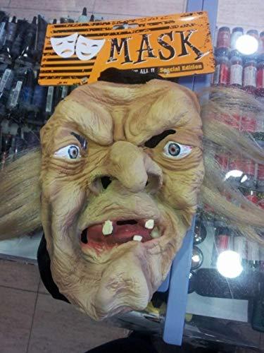 Careta Halloween de Bruja con capucha
