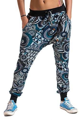 Calzoni a sbuffo asimmetrici, design italiano, stretch-jersey, 100% cotone - Italiano Jersey