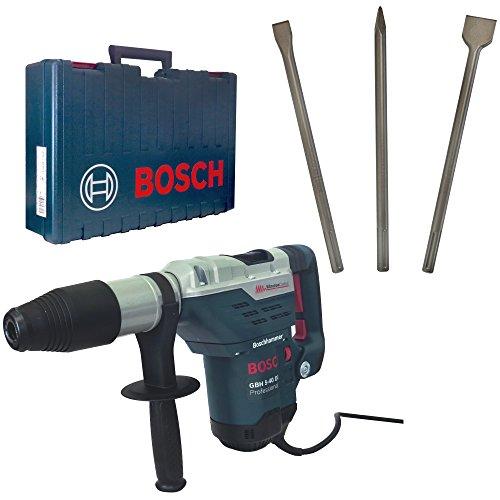 Preisvergleich Produktbild Bosch Bohr- und Meißelhammer SDS-MAX GBH 5-40 DCE inkl. Vibrationsdämpfung + Bosch SDS-MAX Meisselset 3-tlg. Spitzmeißel 400mm, Flachmeißel 25x400mm und Spatmeißel 50x400mm