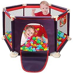 Clôture pour centre de jeu Aqua portable lavable avec parc pour enfants, 6 tapis, parc et tapis de transport, filet respirant et filet respirant pour bébé