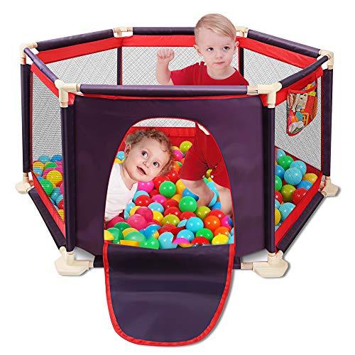 Parque de Juegos Infantil Portátil Lavable Aqua Play Center Valla con tapete y malla transpirable para bebés Bebés recién nacidos