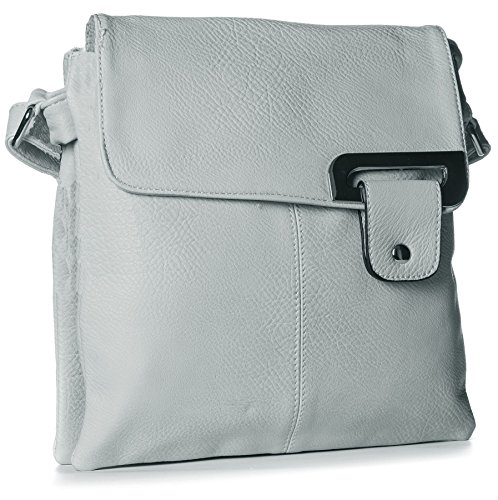 Big Handbag Shop - Borsa a tracolla donna Light Grey