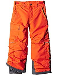 Columbia chico canguro pantalones impermeables, Niño, color Naranja - Tangy Orange, tamaño XL