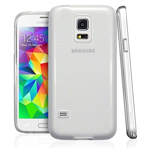 NEW'C Coque pour Samsung Galaxy S5 Mini, [ Ultra Transparente Silicone en Gel TPU Souple ] Coque de Protection avec Absorption de Choc et Anti-Scratch