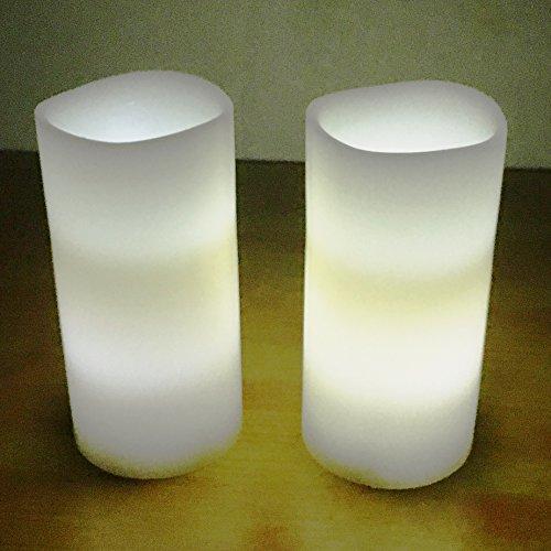 Velas sin llama, con mando a distancia, realistas, llama de LED, temporizador, Warm White(3*6