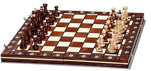 Woodeyland Handgefertigte Holz SENATOR Schachspiel 40x40 cm