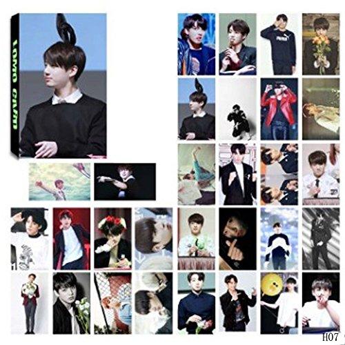 Pack de 30fotografías BTS Bellene, tarjetas, postales, póster, Jung Kook, Jimin, V, Suga, Jin, J de Hope, para fans de los artículos de Rap Monster, colección y mejor regalo para The Army