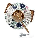 ZGDPLZS Ventilateur Pliant 30pcs personnalisé Fan Pliant Bambou Bambou Fleur de Cerisier avec Faire-Part de Mariage Sac Cadeau, 11