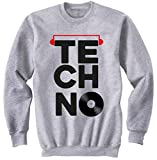 teesquare1st Techno Vinyl 2 Gris Sudadera Size Small