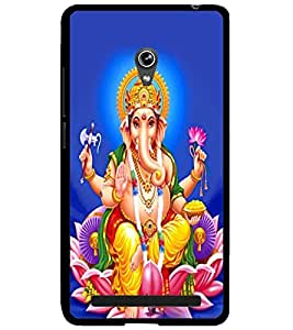 ColourCraft Lord Ganesha Design Back Case Cover for ASUS ZENFONE 6 A600CG