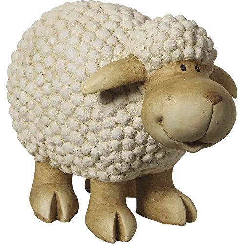 H.G. Mouton debout, Magnésie, 49 x 27 x 36 cm Blanc