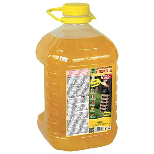Mondo - Huile pour torches à la citronnelle - 3 litres