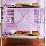 Party Mädchen S Bett dekorative Netzbettwäsche Zubehör Schule, Studenten, Schlafsaal Bett Moskitonetz extra dicht Einzelbett Insektennetz Vorhänge eine Vielzahl von Farben (Farbe: Lila)