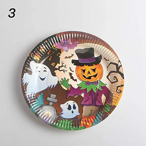 MANSEN 10pcs Halloween Party liefert einweg - Papier aus Papier - runde