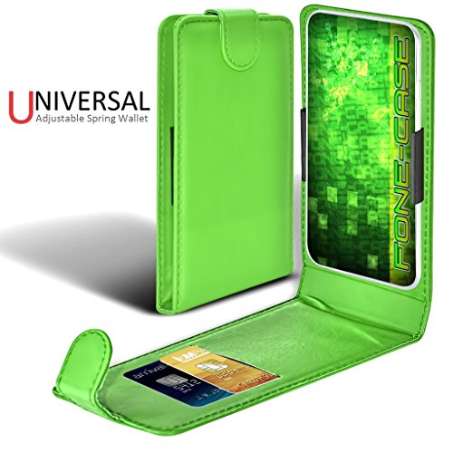 Fone-Case (Vert) Apple Iphone Pro Case style Clamp flip protection PU Housse en cuir Vert Universal Clamp Flip