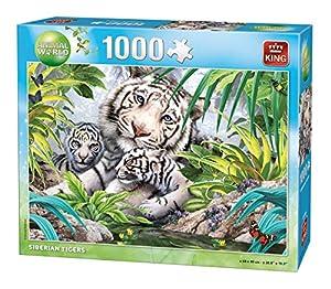 King Animal World Siberian Tiger 1000 pcs 1000pieza(s) - Rompecabezas (Jigsaw Puzzle, Fauna, Adultos, Animal World, Tigre, 8 año(s))