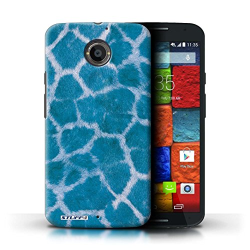 Kobalt® Imprimé Etui / Coque pour Motorola Moto X (2014) / Bleu conception / Série Girafe animale Peau/Motif Bleu