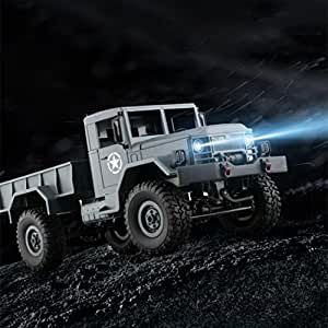 Creazy WPLB-14 1/16 Toy Grade 4WD RC Military Truck Wireless Remote Control Car
