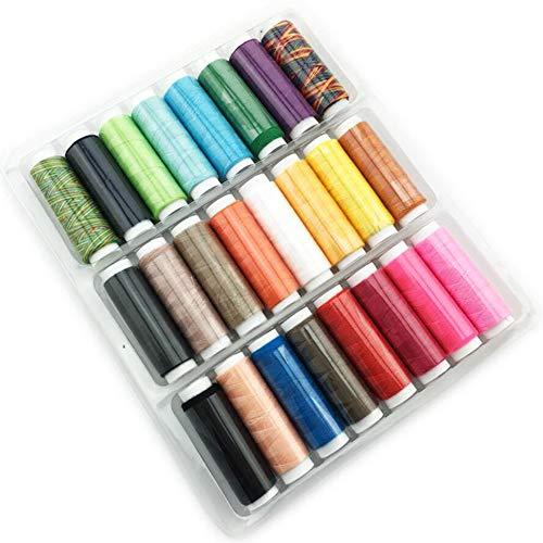 24 couleurs 109,7 m Polyester Broderie à coudre pour cousues à la main et patchwork de machines à coudre à coudre Accessoires