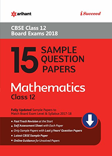 15 Sample Question Papers Mathematics Class 12th CBSE price comparison at Flipkart, Amazon, Crossword, Uread, Bookadda, Landmark, Homeshop18