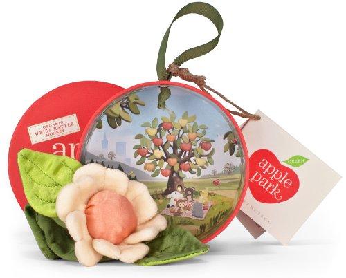 'Apple Park Picnic Pal Organic 4Wrist Rattle, Daisy (Japan (Daisy Rattle)