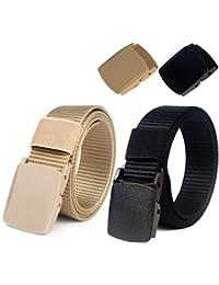 Lalafancy Lot de 2 ceintures tactiques pour hommes, ceinture de ceinture  militaire en nylon, 4de272a48f1