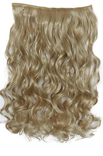 PRETTYSHOP 70cm oder 55cm Clip In Extensions Halbperücke Haarverlängerung Haarverdichtung Haarteil hitzebeständig wie Echthaar div. Farben (70cm blond #15 C71-1)
