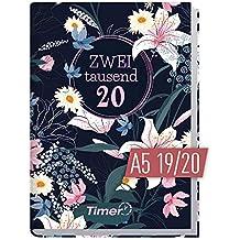 Chäff-Timer Classic A5 Kalender 2019/2020 [Dark Flower] Terminplaner 18 Monate: Juli 2019 bis Dez. 2020   Wochenkalender, Organizer, Terminkalender mit Wochenplaner - Top organisiert durchs Jahr!