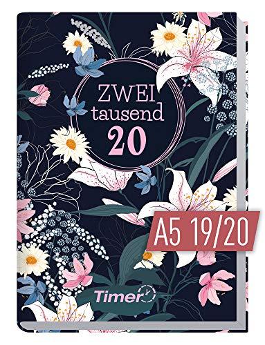Chäff-Timer Classic A5 Kalender 2019/2020 [Dark Flower] Terminplaner 18 Monate: Juli 2019 bis Dez. 2020 | Wochenkalender, Organizer, Terminkalender mit Wochenplaner - Top organisiert durchs Jahr! (Kalender Planer Und)