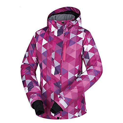 Hzikk giacca da sci donne antivento impermeabile traspirante neve calda cappotto,a,m