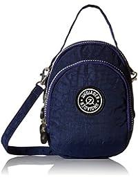 tianhengyi Nylon resistente de agua pequeño bolso bandolera bolso de mano Monedero de tres capas bolsa de teléfono celular para adolescentes