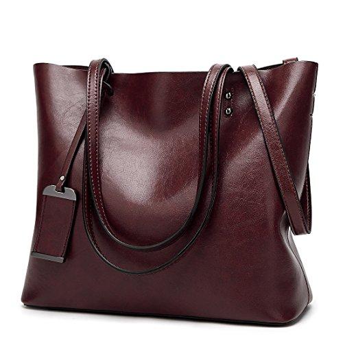 YYW Large Tote Bag, Borsa a mano donna coffee color
