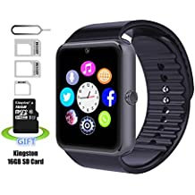 Smart Watch, Pushman 1 impermeabile Smart Watch Phone per iPhone 5S/6/6S e Android 4.2 o superiore Smartphone, Pushman