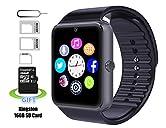 Smart Watch, Pushman1 Wasserdichte Smart Watch Phone für iPhone 5s / 6 / 6s und 4,2 Android oder über Smartphones von Pushman√ Disclaimer: Diese Uhr ist besser geeignet für Android-Handy als das iPhone, so dass wir empfehlen, sollten Sie Ihr Handy-Mo...