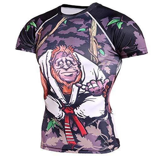Sommer Kurzarm T-Shirts Top T Bluse Beiläufige Dünne Sport T-Shirt Männer Jungen T-Shirt Top,Formelle Kurzarm - B grau 2XL - Balboa System
