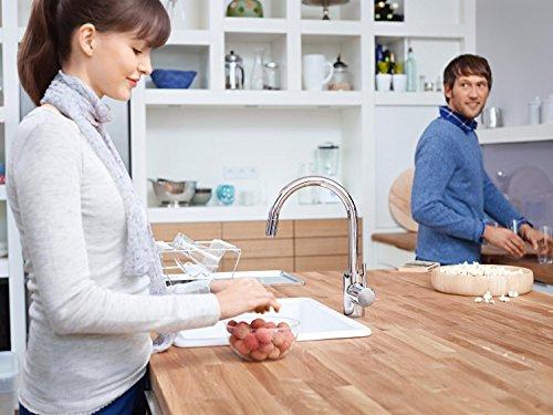 Grohe – Concetto Küchenarmatur, hoher Auslauf, Schwenkbereich 360°, Chrom - 8