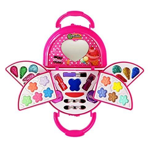 Kinderschminke Schminkkoffer Koffer Schminkset Kinder Schminkkoffer Mädchen Schönheit Spielzeug...