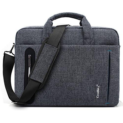 CoolBell Laptoptasche 15 Zoll Herren Umhängetasche Aktentasche Business Messenger Bag Arbeitstasche tragbar Notebook Schultertasche für Schule Damen, Grau - Kunden-service-telefon-nummer