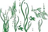 GRAZDesign 650035_30_062 Wandtattoo Fische im Ozean Aquarium | Badezimmer-Aufkleber für Fliesen/Wände / Spiegel | WC/Toilette (46x30cm // 062 hellgrün)
