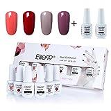 UV Nagellack set von Elite99 soak off nagelgel farben auflösbarer peel off nagellack uv nagellack starterset 4x 8ML Base Top Coat Set 2x 8ML