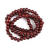 Rotes Sandelholz Gebetsperlen - SODIAL(R)Holz Gebetskette 108 Stk. Buddha Buddhistisch Mala Armbandkette Purpuraehnlich rot