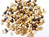 100 Or 200 - Wooden Mixed Size & Shape Wood Beads Craft Jewellery Dolls Hair Braiding - Pack Size: 200 Beads
