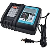 New Charger With LCD Screen, USB Port For 14V To 18V Mak DC18RC DC18RA BL1840 BL1850 BL1820 BL1815 BL1430 BL1440 BL1450 Power Tool Lithium Battery Charger