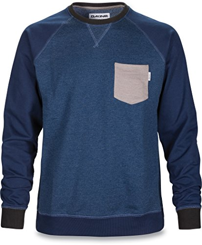 DAKINE felpa uomo-shirt BELMONT CREW in pile, Midnight Heather, m, 10000888