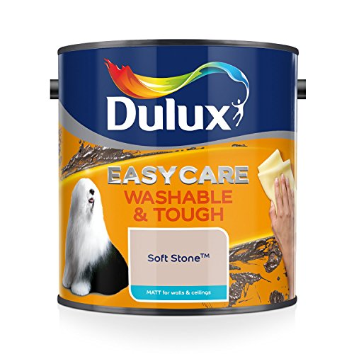 Dulux Easycare Washable & Tough Matt 2,5 L - Pinturas de pared para interior (Pintura, Preparado, Techo, Pared, Warm neutral, Mate, 2,5 L)